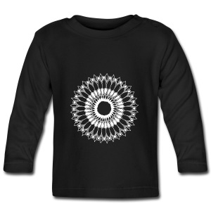 White Lace Sunflower Mandala - Baby Long Sleeve T-Shirt