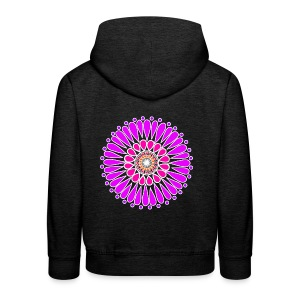Pink & Purple Sunflower Mandala - Kids' Premium Hoodie