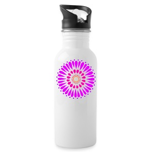 Pink & Purple Sunflower Mandala - Water Bottle