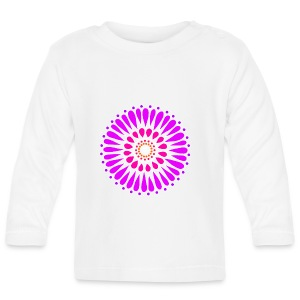 Pink & Purple Sunflower Mandala - Baby Long Sleeve T-Shirt