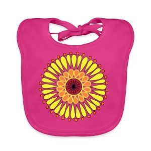 Yellow Sunflower Mandala - Baby Organic Bib