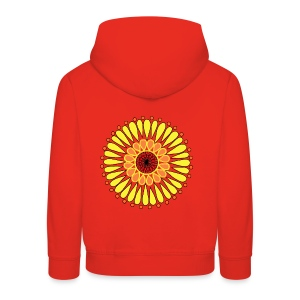 Yellow Sunflower Mandala - Kids' Premium Hoodie