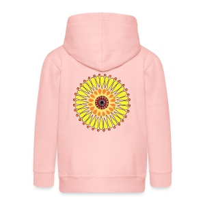Yellow Sunflower Mandala - Kids' Premium Zip Hoodie