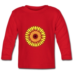 Yellow Sunflower Mandala - Baby Long Sleeve T-Shirt