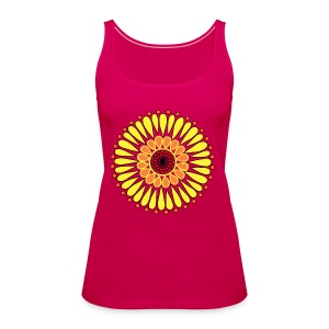 Yellow Sunflower Mandala - Women's Premium Tank Top