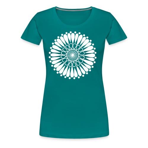 White Sunflower Mandala - Women's Premium T-Shirt