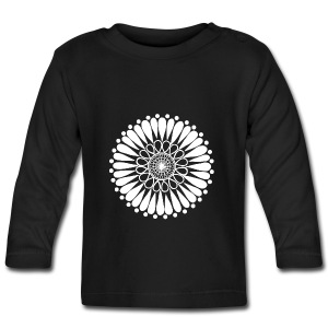 White Sunflower Mandala - Baby Long Sleeve T-Shirt