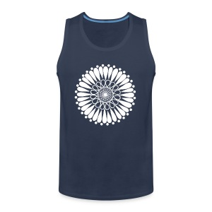 White Sunflower Mandala - Men's Premium Tank Top
