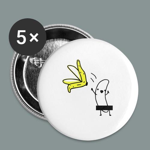 naked banana cap - Buttons/Badges mellemstor, 32 mm (5-pack)