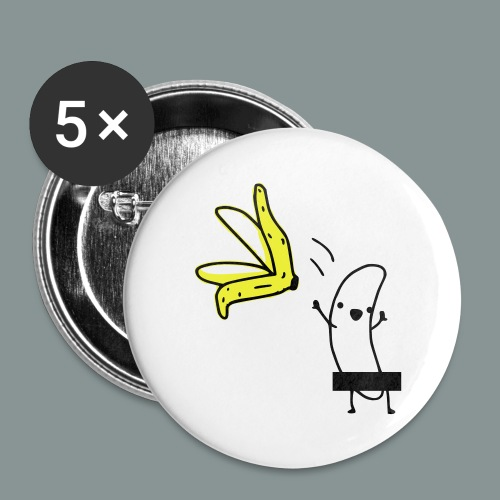 naked banana cap - Buttons/Badges lille, 25 mm (5-pack)
