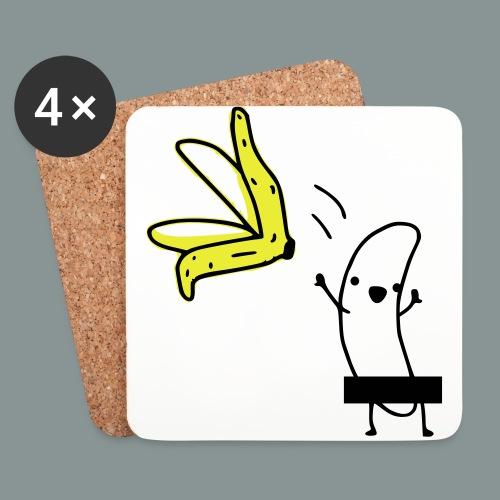 naked banana cap - Glasbrikker (sæt med 4 stk.)