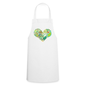 Green Leaf Heart Mandala - Cooking Apron