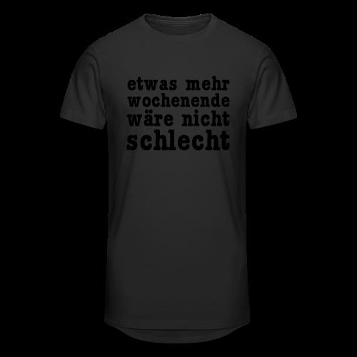 mehr wochenende Shirt - Männer Urban Longshirt