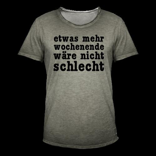 mehr wochenende Shirt - Männer Vintage T-Shirt
