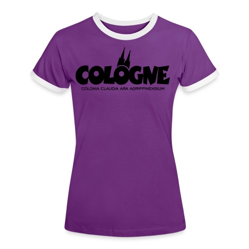 Cologne Colonia Claudia Ara Agrippinensium (Schwarz) Köln Römisch - Frauen Kontrast-T-Shirt