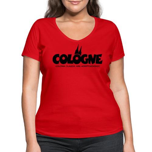 Cologne Colonia Claudia Ara Agrippinensium (Schwarz) Köln Römisch - Frauen Bio-T-Shirt mit V-Ausschnitt von Stanley & Stella