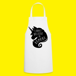 I don't belive in humans unicorn - Cooking Apron
