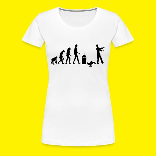 Evolution of zombies - Women's Premium T-Shirt