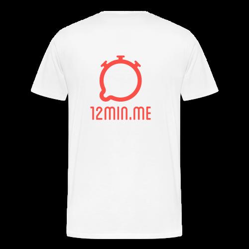 12min.me Tasse (weiß) - Men's Premium T-Shirt