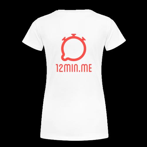 12min.me Tasse (weiß) - Women's Premium T-Shirt