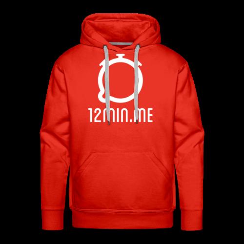12min.me Tasse (rot) - Men's Premium Hoodie