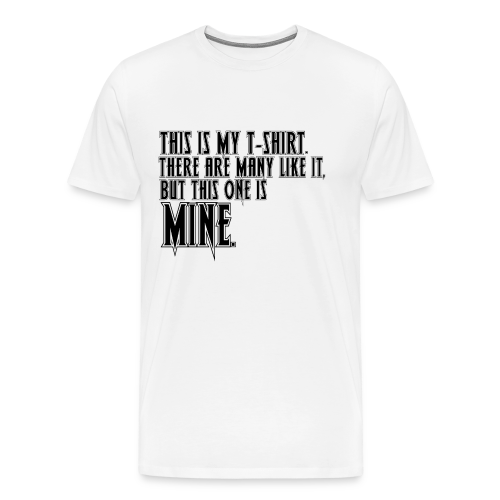 This is MINE Logo Men's Baseball T-Shirt - Men's Premium T-Shirt