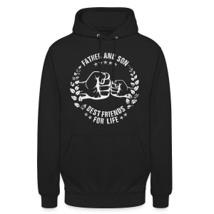 Father and Son best friends for life grey T-Shirts - Unisex Hoodie