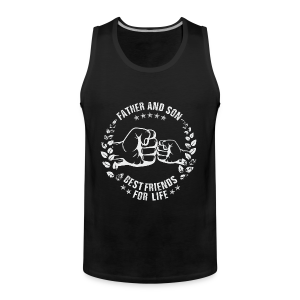 Father and Son best friends for life grey T-Shirts - Männer Premium Tank Top