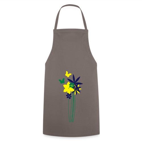Blumenwiese mit Schmetterlingen | Gartenmotiv - Kochschürze