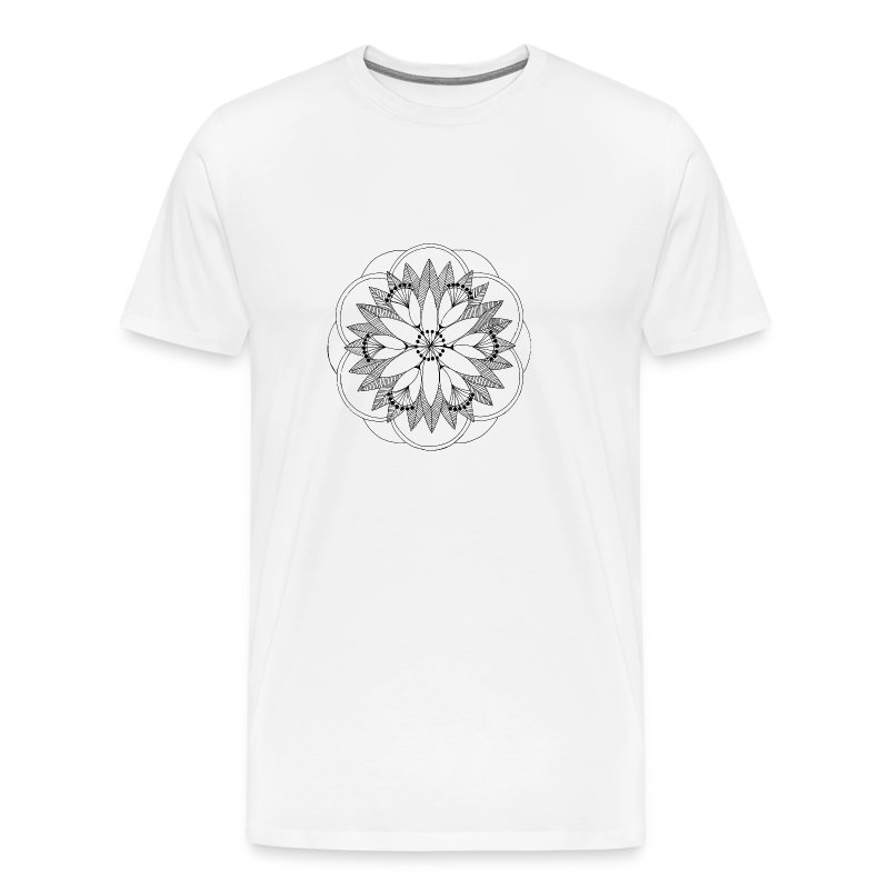 Pond Bouquet Mandala - Men's Premium T-Shirt