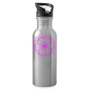 Pink Lotus Mandala - Water Bottle