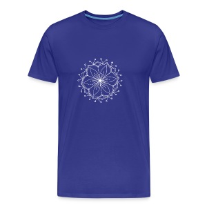 White Lotus MAndala - Men's Premium T-Shirt