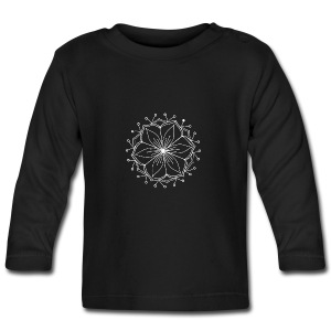 White Lotus MAndala - Baby Long Sleeve T-Shirt