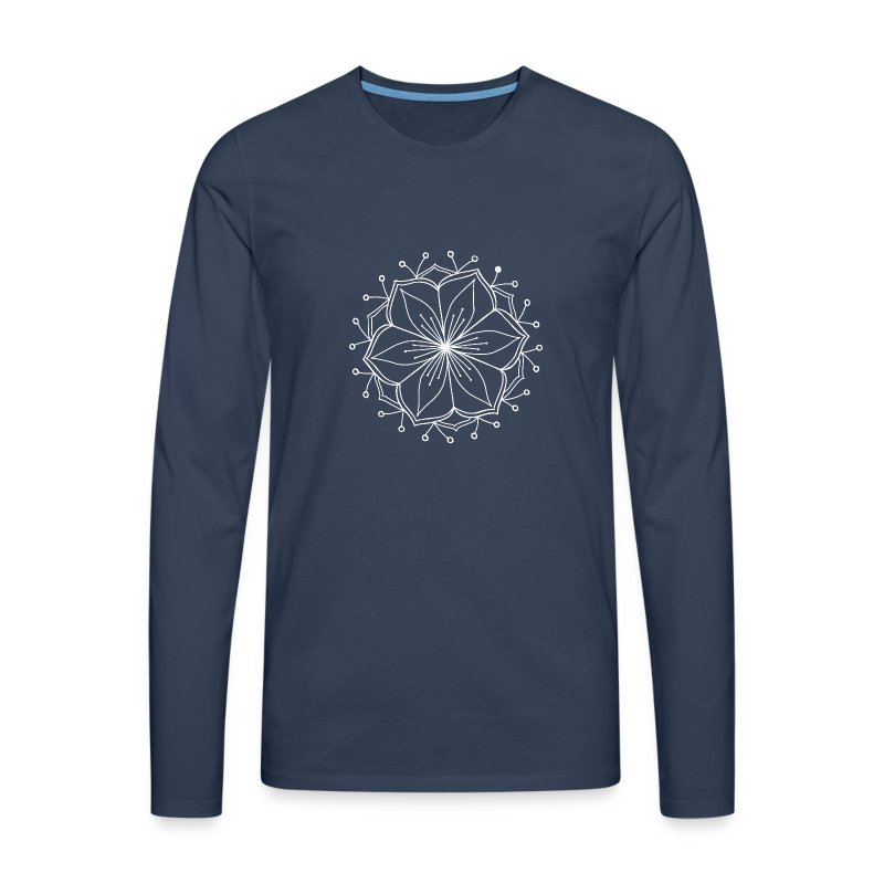 White Lotus MAndala - Men's Premium Longsleeve Shirt