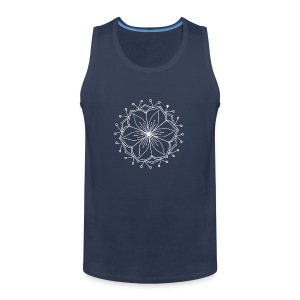 White Lotus MAndala - Men's Premium Tank Top