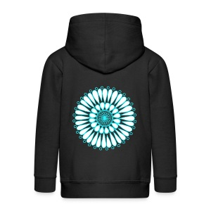 Ice Sunflower Mandala - Kids' Premium Zip Hoodie