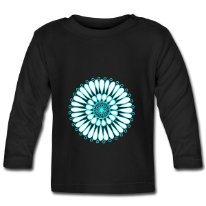 Ice Sunflower Mandala - Baby Long Sleeve T-Shirt