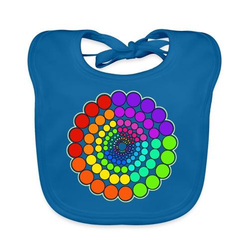 Rainbow Spectrum Mandala - Baby Organic Bib