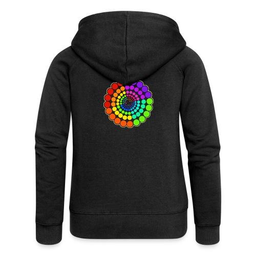 Rainbow Spectrum Mandala - Women's Premium Hooded Jacket