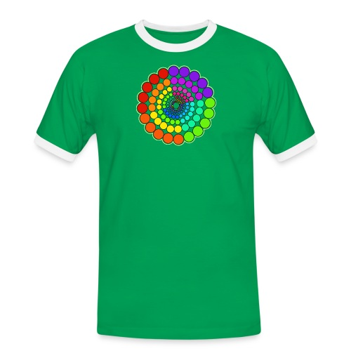 Rainbow Spectrum Mandala - Men's Ringer Shirt