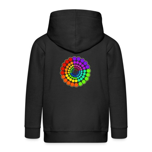 Rainbow Spectrum Mandala - Kids' Premium Zip Hoodie