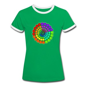 Rainbow Spectrum Mandala - Women's Ringer T-Shirt
