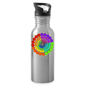 Rainbow Spectrum Mandala - Water Bottle