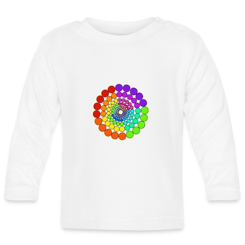 Rainbow Spectrum Mandala - Baby Long Sleeve T-Shirt