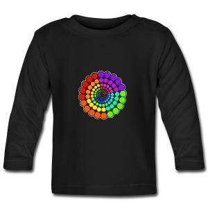 Rainbow Spectrum Mandala - Baby Long Sleeve T-Shirt