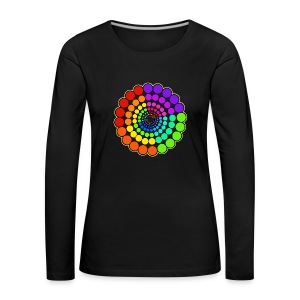 Rainbow Spectrum Mandala - Women's Premium Longsleeve Shirt