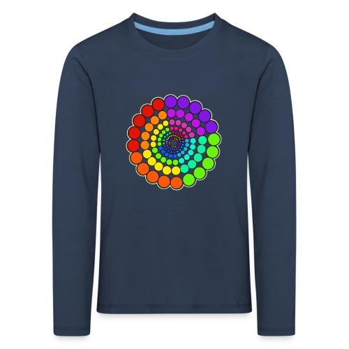 Rainbow Spectrum Mandala - Kids' Premium Longsleeve Shirt