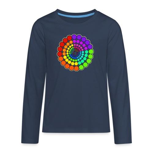 Rainbow Spectrum Mandala - Teenagers' Premium Longsleeve Shirt