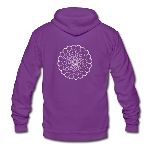 White Spectrum Mandala - Unisex Hooded Jacket by Bella + Canvas
