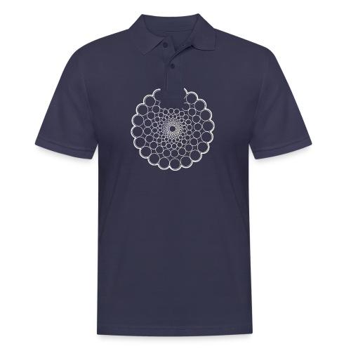 White Spectrum Mandala - Men's Polo Shirt